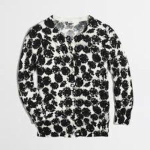 J. Crew Ink Sunflower Floral Cardigan - Small